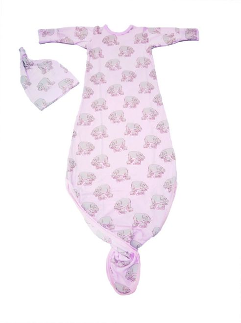 Pale Orchid Hippos Newborn Set