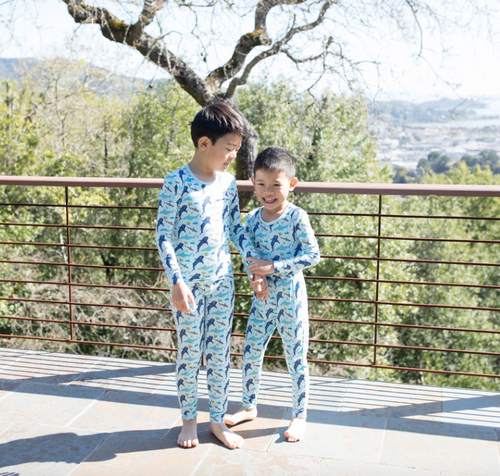 Ocean Blue Sharks Pajama Set