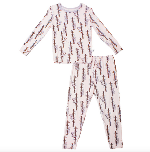 Powder Pink Koalas Pajama Set