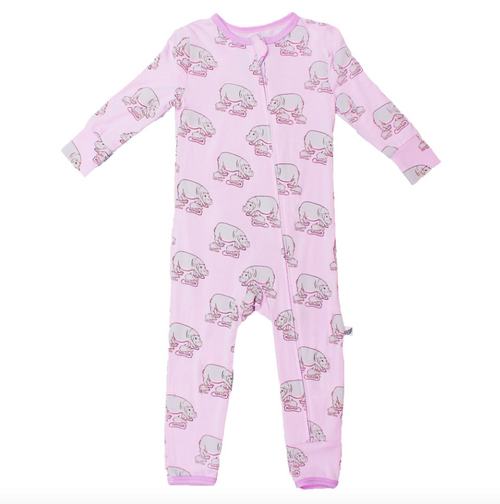 Pale Orchid Hippos Coverall