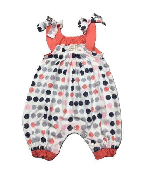 Origany Organic Cotton Burst of Dots Print Romper