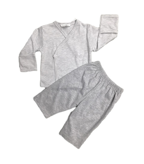 Kissy Kissy 100% Peruvian Pima Cotton Grey Essentials Pant Set