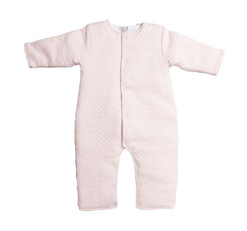 Kissy Kissy 100% Peruvian Pima Cotton Pink Jacquard Padded Playsuit
