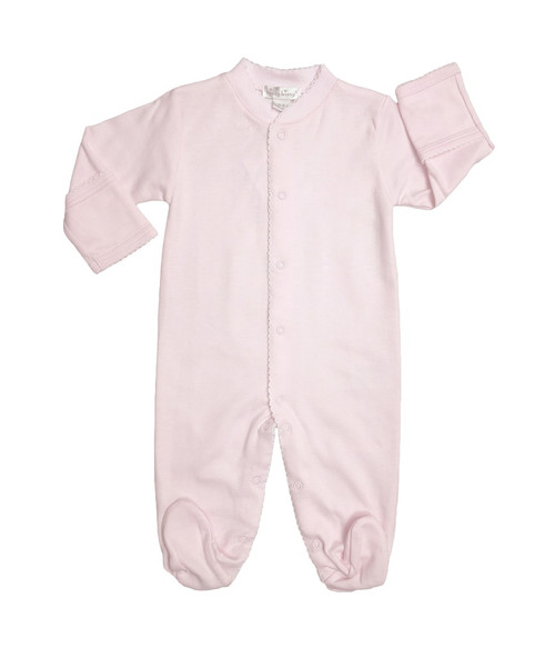 Kissy Kissy 100% Peruvian Pima Cotton Pink Basic Footie