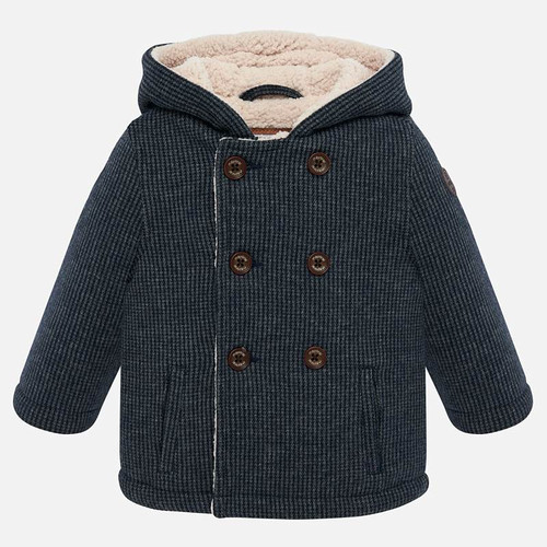 Mayoral Baby Boy Hooded Coat - Navy