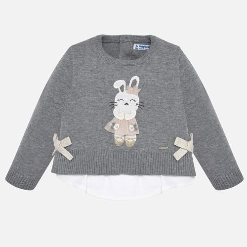 Mayoral Baby Girls Steel Knit Sweater