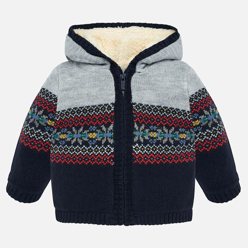 Mayoral Baby Boys Jacquard Zip Sweater