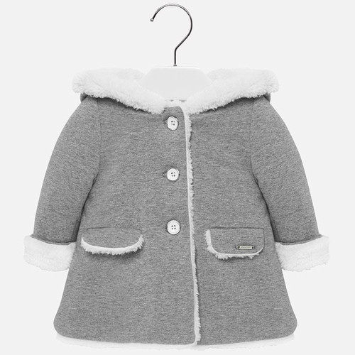 Mayoral Baby Girls Steel Wool Coat