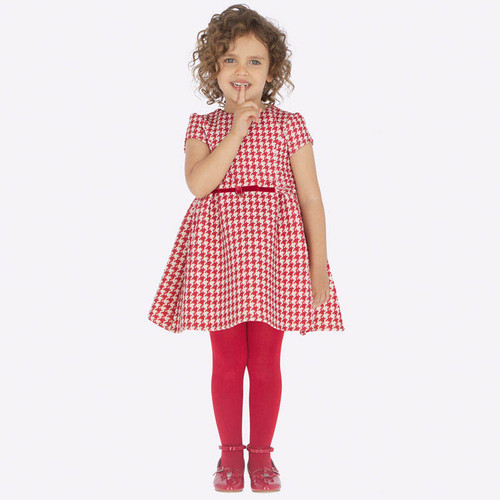 Mayoral Girls Red Printed Dress