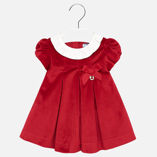 Mayoral Baby Girls Scarlet Velvet Dress