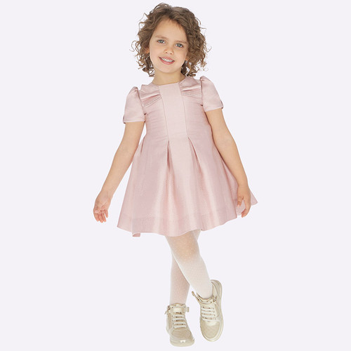 Mayoral Girls Pink Shimmer Dress