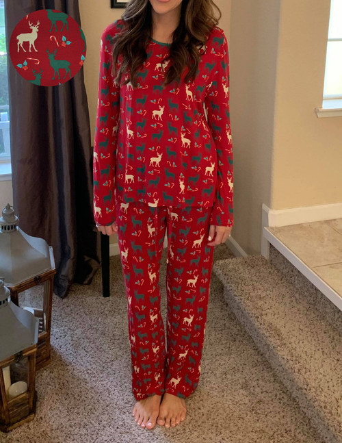 Holiday Reindeer Women's Pajama Set