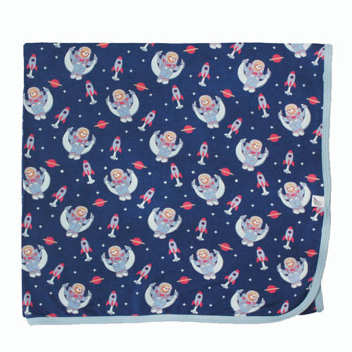 Midnight Blue Astro Sloth Swaddling Blanket