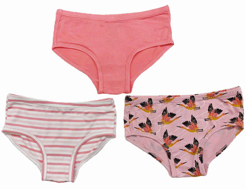 Cherry Blossom Cranes Underwear Set of 3