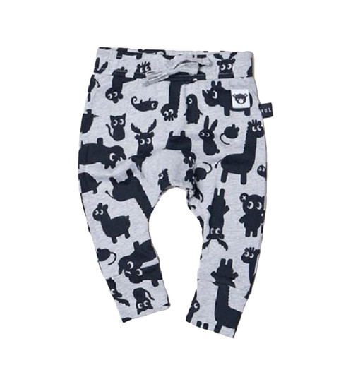 Huxbaby Shadow Animal Drop Crotch Pant