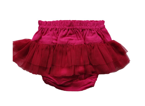 Yo Baby Girl Hot Pink Tutu Diaper Cover