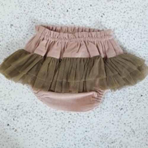 Yo Baby Girl Brown Tutu Diaper Cover