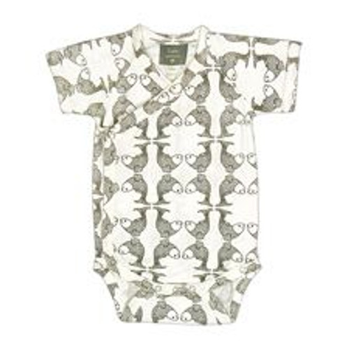 Kate Quinn 100% Organic Cotton Short Sleeve Kimono Bodysuit - Koi