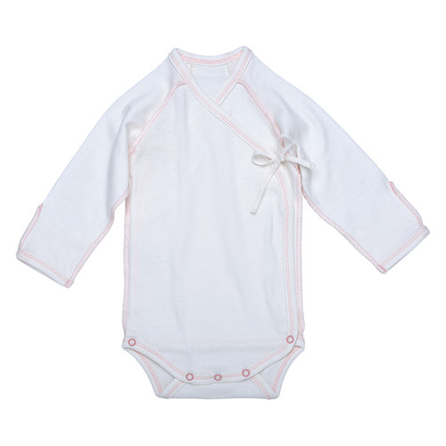 Under the Nile Organic Egyptian Cotton L/S Inside Out Babybody- Blush