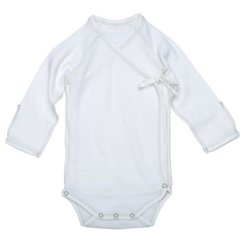 Under the Nile Organic Egyptian Cotton L/S Inside Out Babybody- Sage