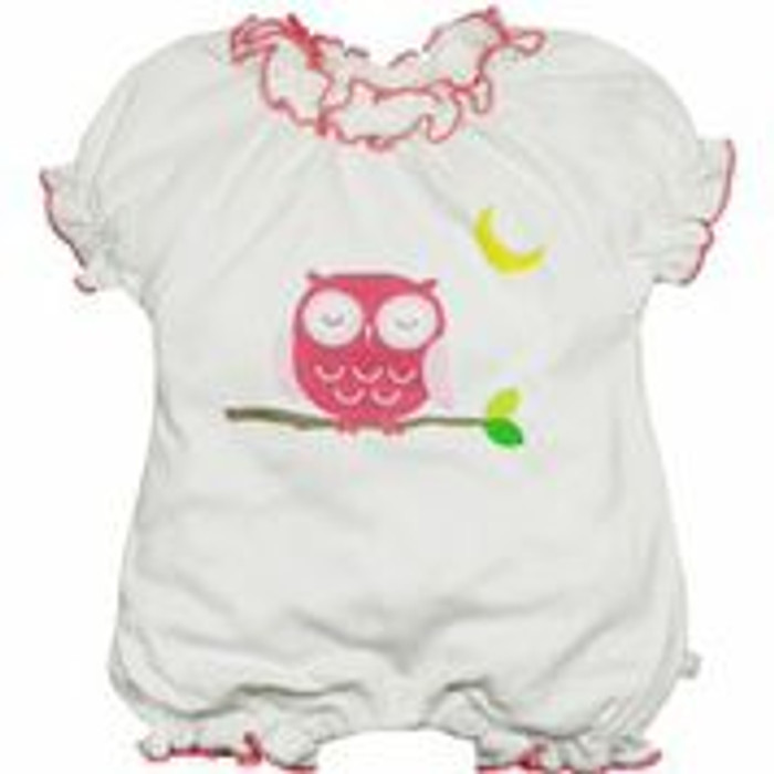 Babysoy - Soy/Organic Cotton Blend Bubble Romper, Owl