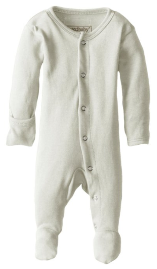 L'ovedbaby 100% Organic Cotton Footed Overall - Stone