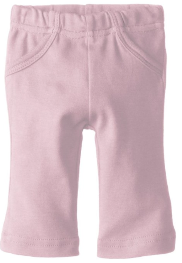 L'ovedbaby 100% Organic Cotton Lounge Pants, Lavender Front