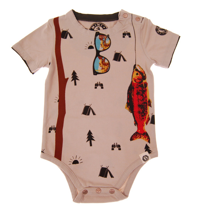 MINI SHATSU Gone Fishing, S/S Body suit front