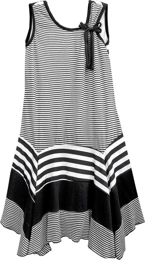 Isobella and Chloe, Zebra_A - Line Sleeveless Dress