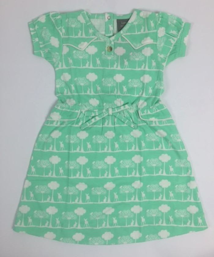 Kate Quinn Organic Cotton Piped Cloud Dress, Flora and Fauna
