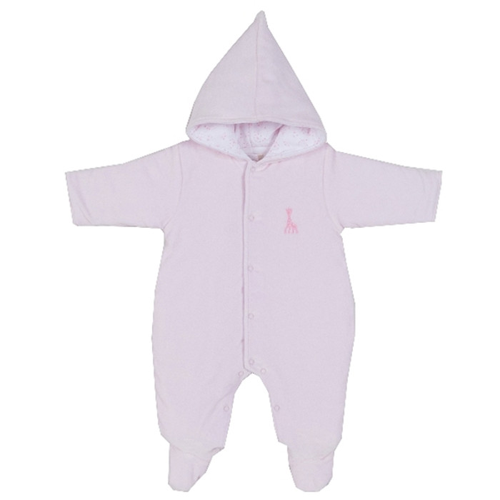 Kissy Kissy Twilight Sophie Velour Footed Bunting, Pink