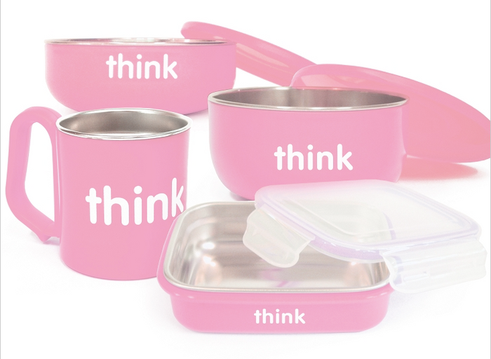 Think Baby THE COMPLETE BPA FREE FEEDING SET (PINK)
