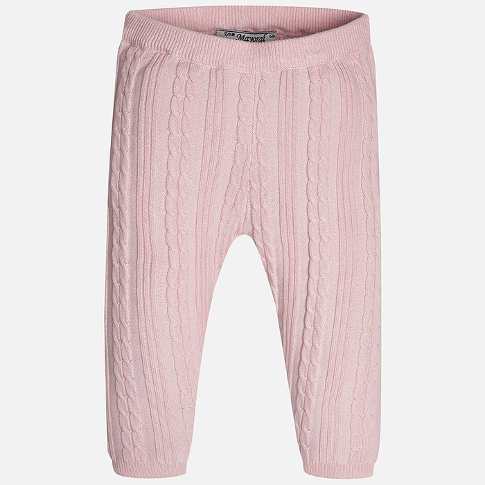 Mayoral Baby Girls Knitted Leggings, Rose