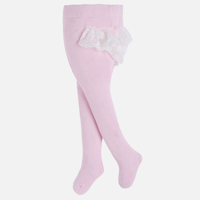 Mayoral Baby Girls Frilly Dress Tights, Baby Rose