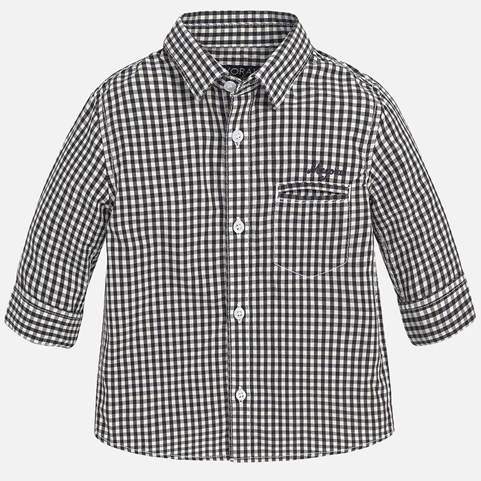 Mayoral Baby Boys Check Shirt, Graphite