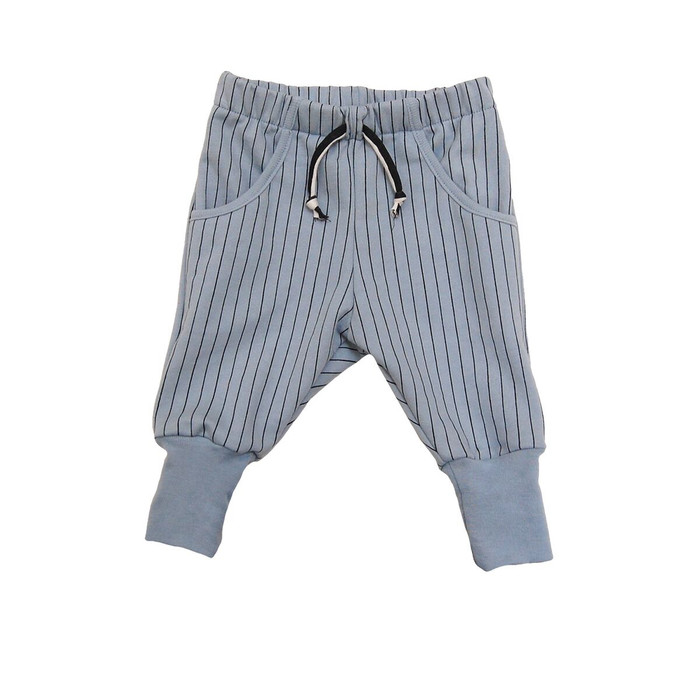 Go Gently Riding Pant, Blue Stone Pinstripe