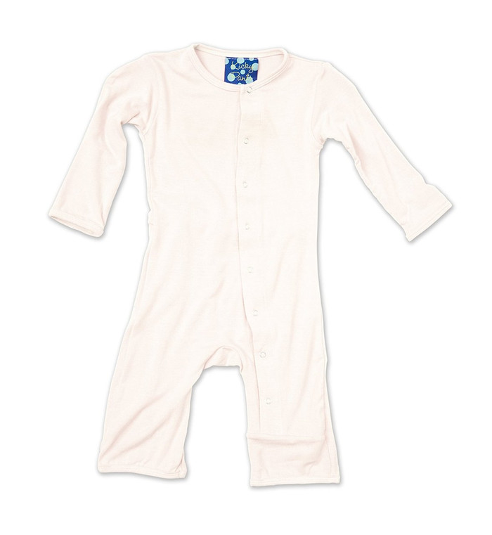 Kickee Pants Basic Fitted Coverall, Natural