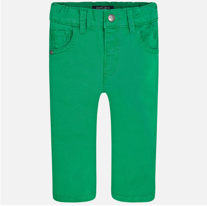 Mayoral Baby boy twill long trousers, Green