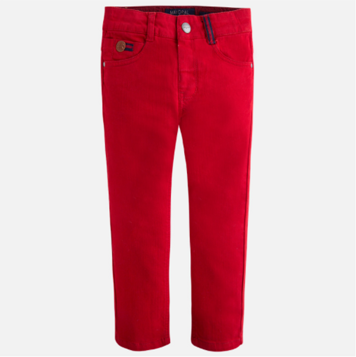 Mayoral boy twill long trousers with Elastic, Blackberry