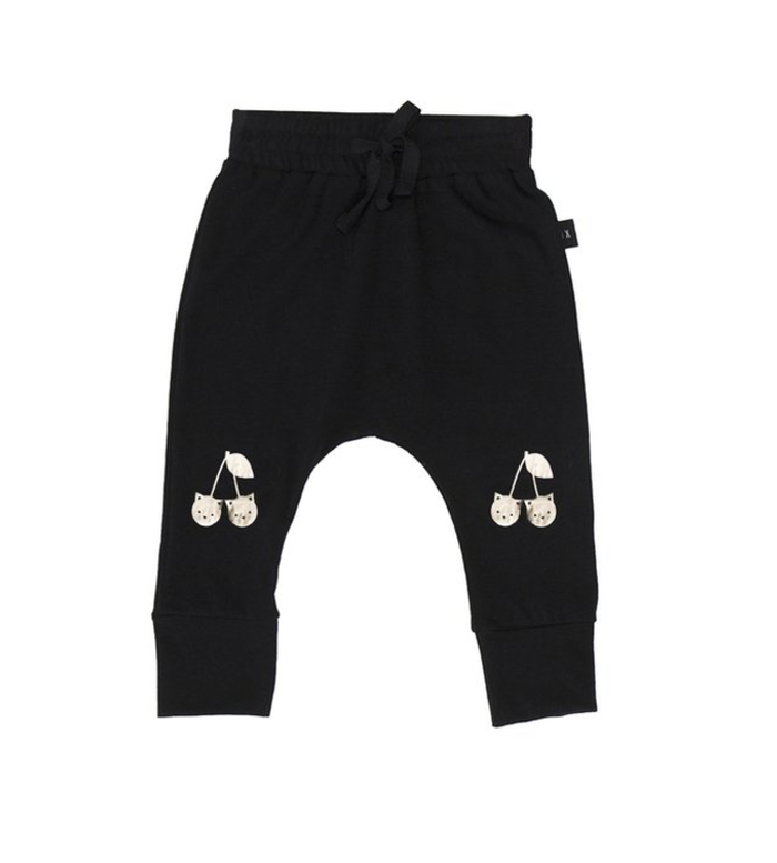 Huxbaby Gold Cherry Cat Drop Crotch Pant