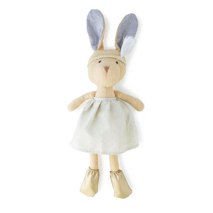 Hazel Village - Juliette Rabbit in Silver and Gold Party Outfit