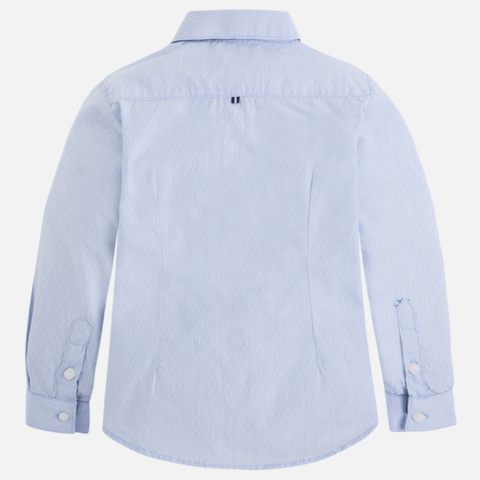 Mayoral Boys Long Sleeve Shirt - Light Blue