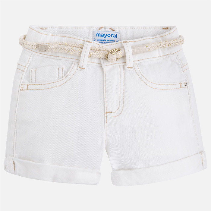 Mayoral Girl Twill Shorts - Natural