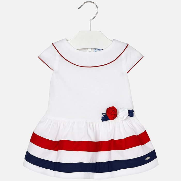Mayoral Baby Girl Poplin Dress - White