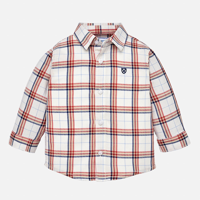 Mayoral Baby Boy Checked Shirt - Candy Red
