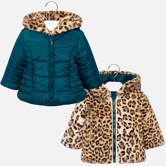 Mayoral Baby Girls Reversible Coat