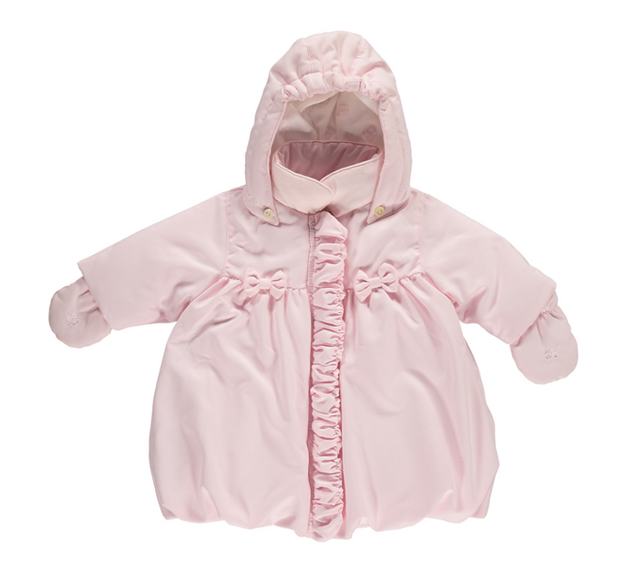 Emile et Rose Pink Hooded Microfiber Jacket - Flo