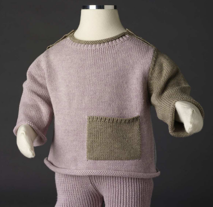 TANE Colorblock Pullover Sweater - Lavender Moon Combo