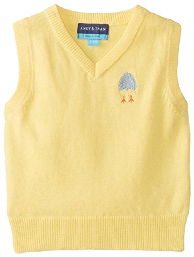 Andy & Evan East'er Eyes On This Sweater Vest - Yellow