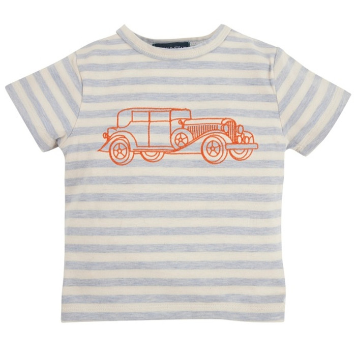 Andy & Evan The Model Tee - Blue Stripe